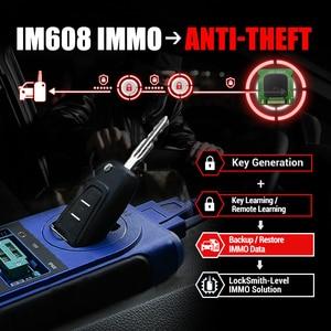 Image 2 - Autel IM608 MaxiIM 608 OBD2 tarayıcı OBDII araba otomatik teşhis aracı OBD 2 tüm sistem anahtar programlama PK IM508 anahtar programcı