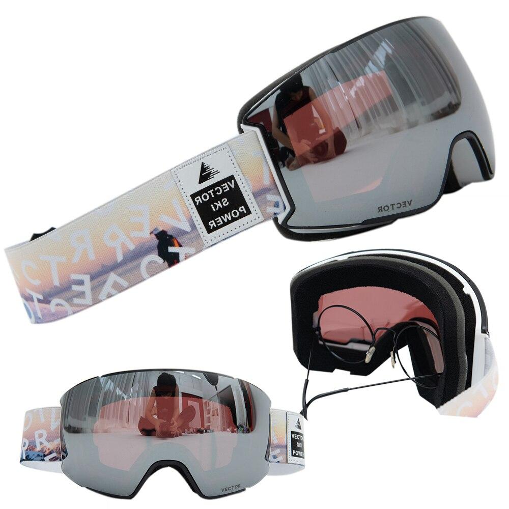 OTG Ski Goggles Snow Glasses Men UV400 Anti-fog Coatings Snowmobile Snowboard Skiing Women Sunglasses Outdoor Winter Sport 2020