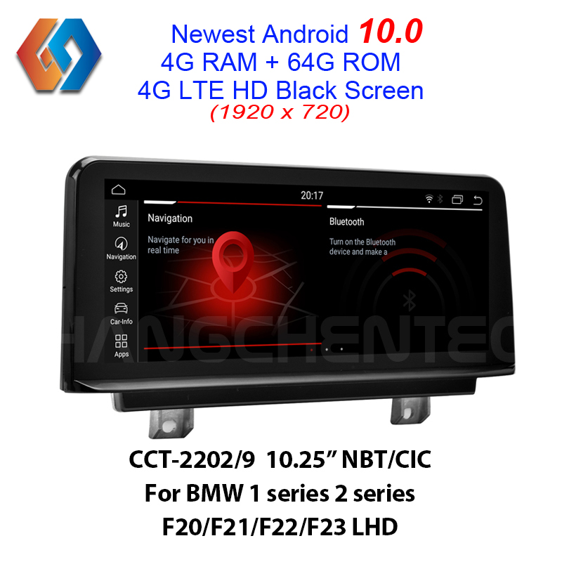 Car GPS Touch Screen 64G <font><b>Android</b></font> 10 For LHD <font><b>BMW</b></font> <font><b>F20</b></font> F21 F22 F23 NBT CIC Support All OEM Functions and Features Built-in BT WiFi image