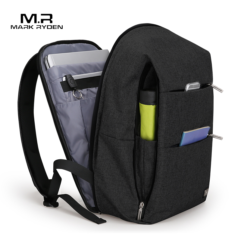 Men Backpack Bag Mark Ryden Water-Repellent Large-Capacity Casual-Style New for Laptop