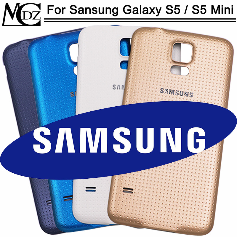 New S5 Battery Cover For Samsung Galaxy S5 S5 Mini Back Cover Rear Door Glass Housing Case