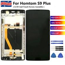 Cho Homtom S9 Plus LCD Màn Hình + Cảm Ứng Màn Hình Thay Thế + Bo Mạch Chủ + Nút Home Cảm Biến Cáp Mềm ban Đầu Một Phần