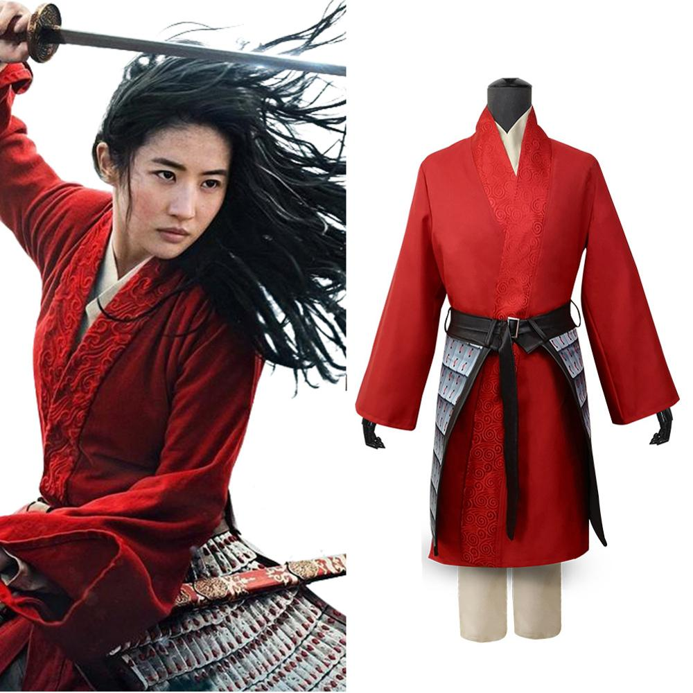 2020 Movie Hua Mulan Cosplay Costumes Princess Dresses Up For Women Performance Halloween Costume Tops Pants Outwear Belt Movie Tv Costumes Aliexpress