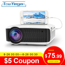 Tuyinger T4 mini proyector LED 1280x720 portátil Beamer Home Cinema (pantalla de sincronización con cable opcional para Iphone Ipad tableta del teléfono)(China)