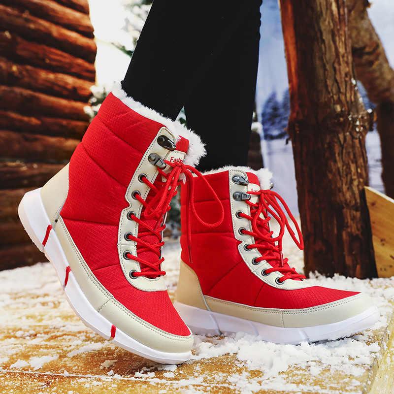 2019 yeni kadın botları kışlık botlar kadın kar botları kadın sıcak botlar kış kadın sıcak Botas Mujer beyaz patik artı boyutu