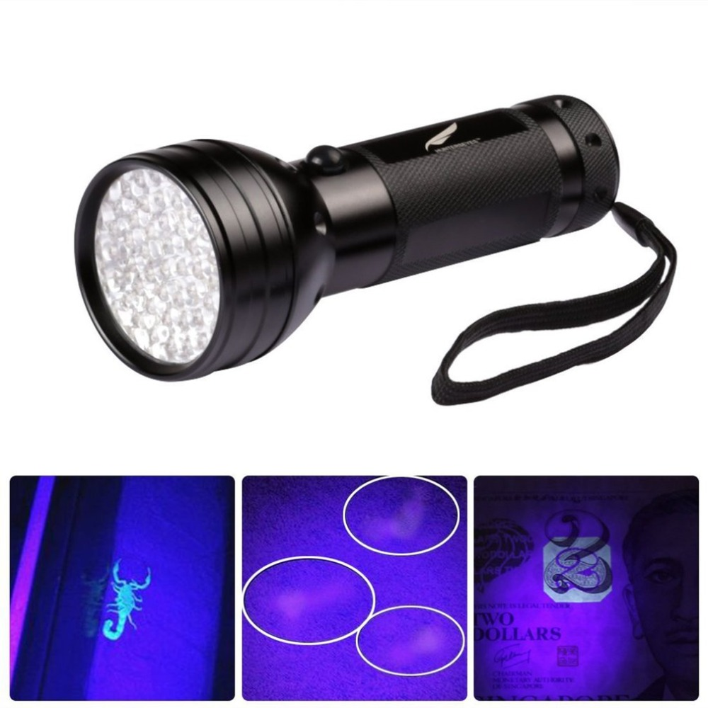 51 LED UV Torch Light 395nm Multifunction Ultraviolet Flashlight Pet Urine Stain Detector For Scorpions Inspection