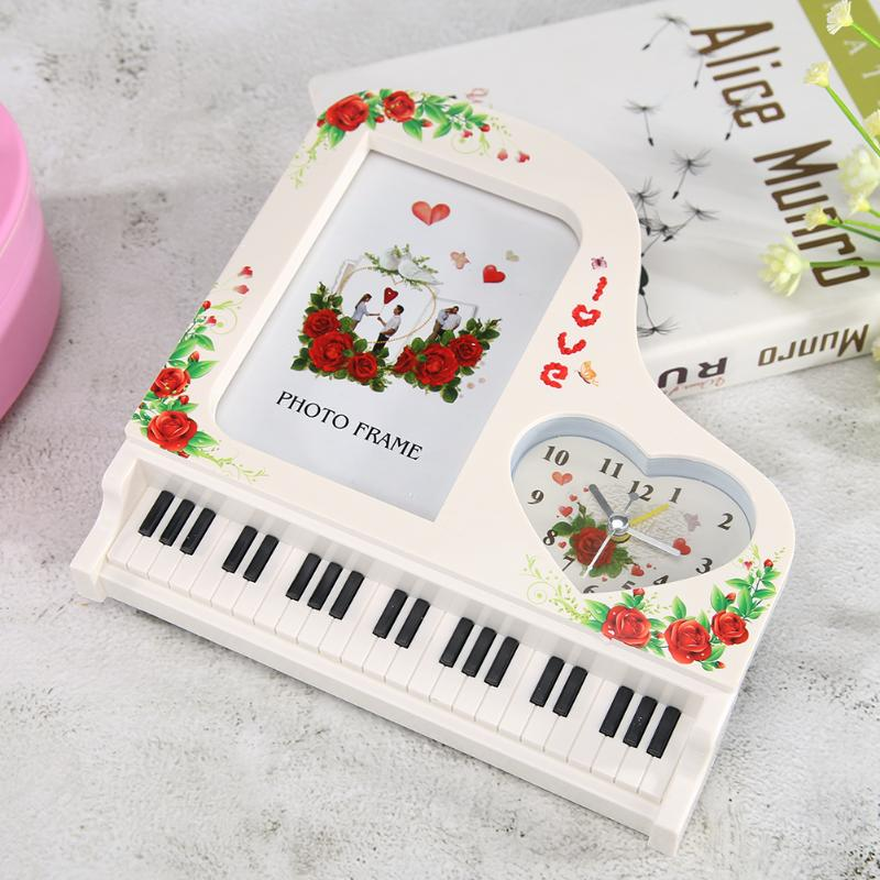 Classical Upright Piano Type Clock Wedding Party Ornaments Valentine Gift Vintage Piano Music Box Music Education For Girls Kids