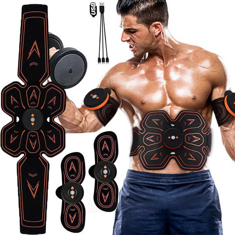 Estimulador Abs abdominales Fitness Equipo portátil Entrenamiento muscular