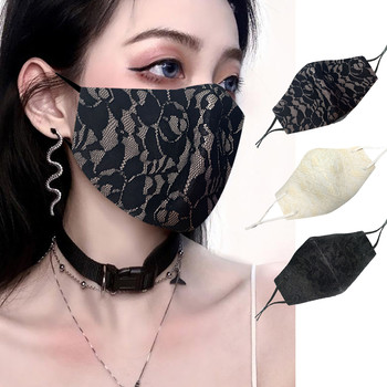 Reusable And Washable Lace Mask For Adults D-ustproof And Thickened Dustproof Protective Printed Funny Mascarilla Face Shield#50 image