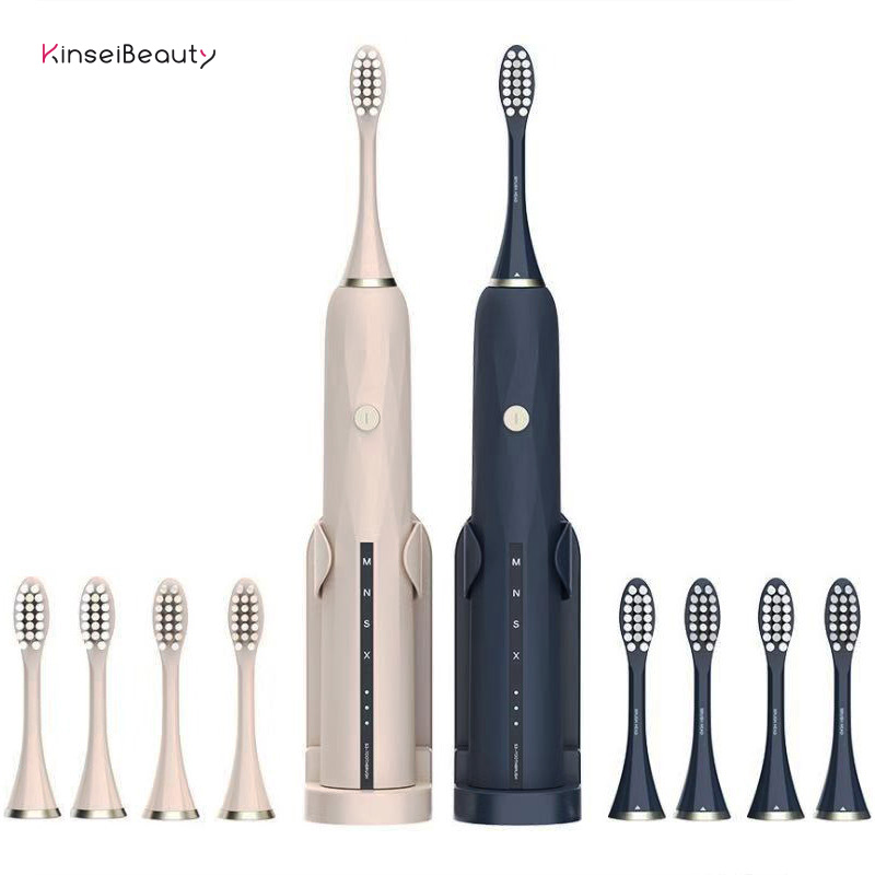Sonic Toothbrush Electric Tooth Brush Ultrasonic USB Rechargeable Deep Cleaning Toothbrush Waterproof IPX7 With 4 Brush Heads