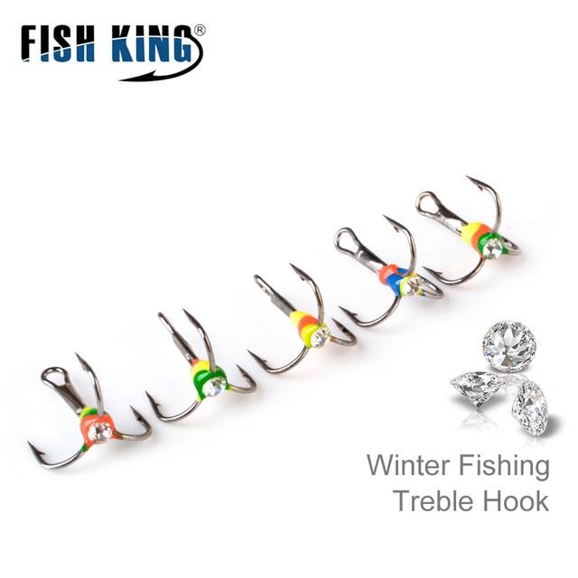 Best No1 Winter Ice Fishing Hooks High Carbon Steel Treble Hook Tackle Fishhooks cb5feb1b7314637725a2e7: Size 10|Size 12|Size 6|Size 8