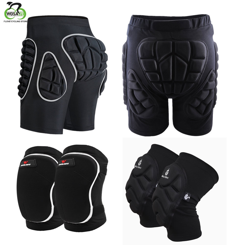 WOSAWE Winter Sports Skiing Snow Shorts Protective Hip Butt Bottom Padded Amor Men Ski Snow Skate Snowboard Pants Protection