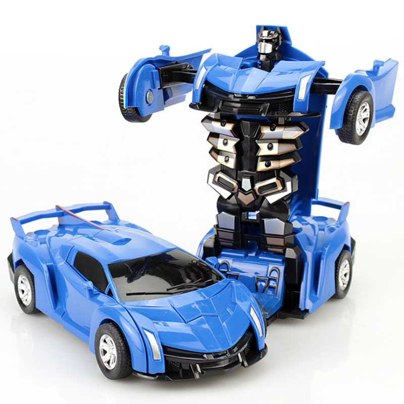 Transformer Car Driving Sports Cars Drive Transformation Robots Models Fighting Toy Gift For Children Boys