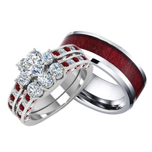Classic Couples Ring  Fashion Women Men Stainless Steel Lovers Ring Wedding Band Engagement Jewelry For Valentines Day Gift