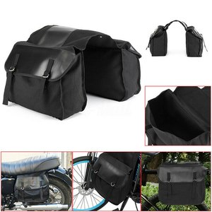 Black Backseat Saddle Bag Trunk Luggage Motor Bag 38*13*28cm Motorcycle Side Saddle Bag Waterproof Pannier Package Luggage Bag