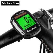 цена на Wireless solar Bike Computer bike Odometer Speedometer Cycling Multifunctional Wireless Computer Rainproof bicycle Computer