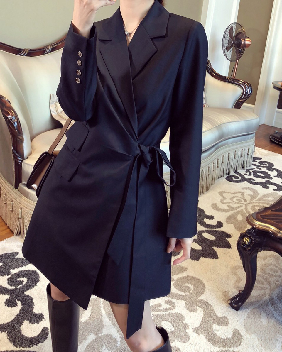 Plus size M-5XL ladies long jacket high-end suit feminine 2020 spring and autumn new fashion solid color women's blazer coat