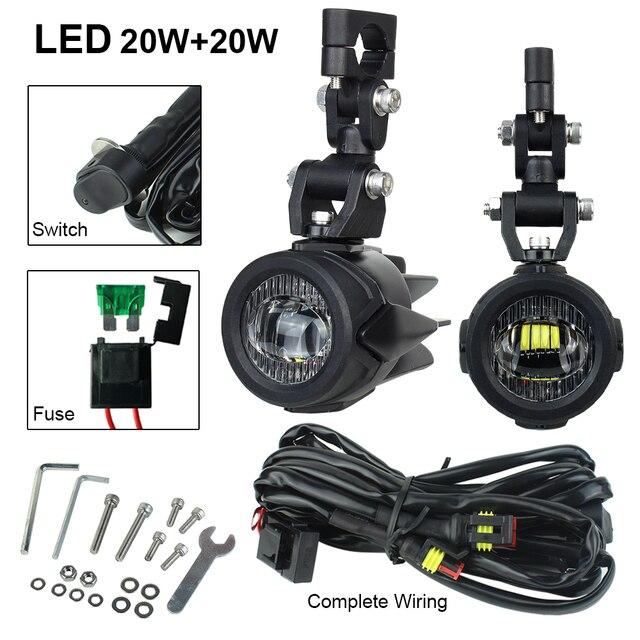 6500k LED fog light For BMW R1200gs Motorcycle Fog Lamp Driving lamp For BMW R1200GS F800GS F700GS F650 K1600