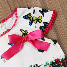 Kids Baby Dresses Butterfly Print Casual Dress 2-7T