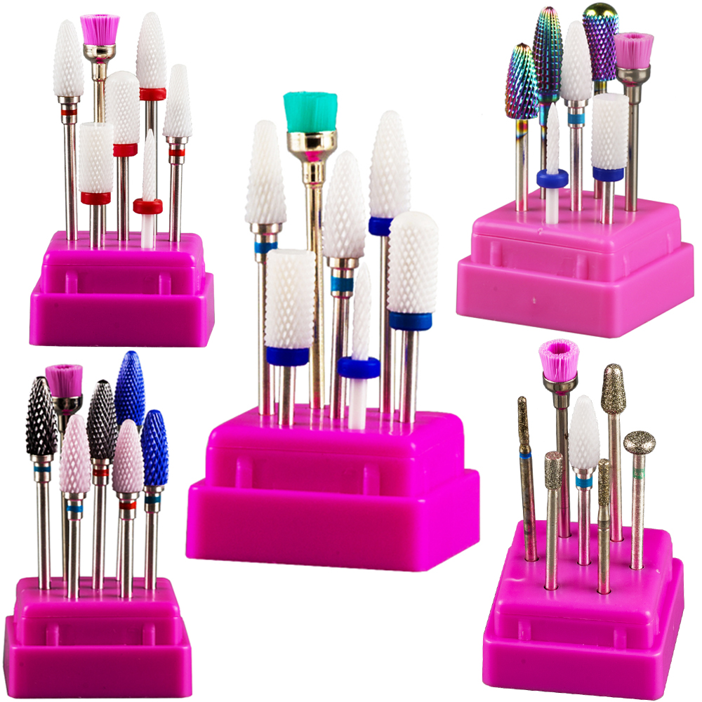 Nail Drill Bits Set Cutters For Milling Machine Manicure Tools Drill For Nails Gel Nails Drill Bit Diamond Cutters For Manicure