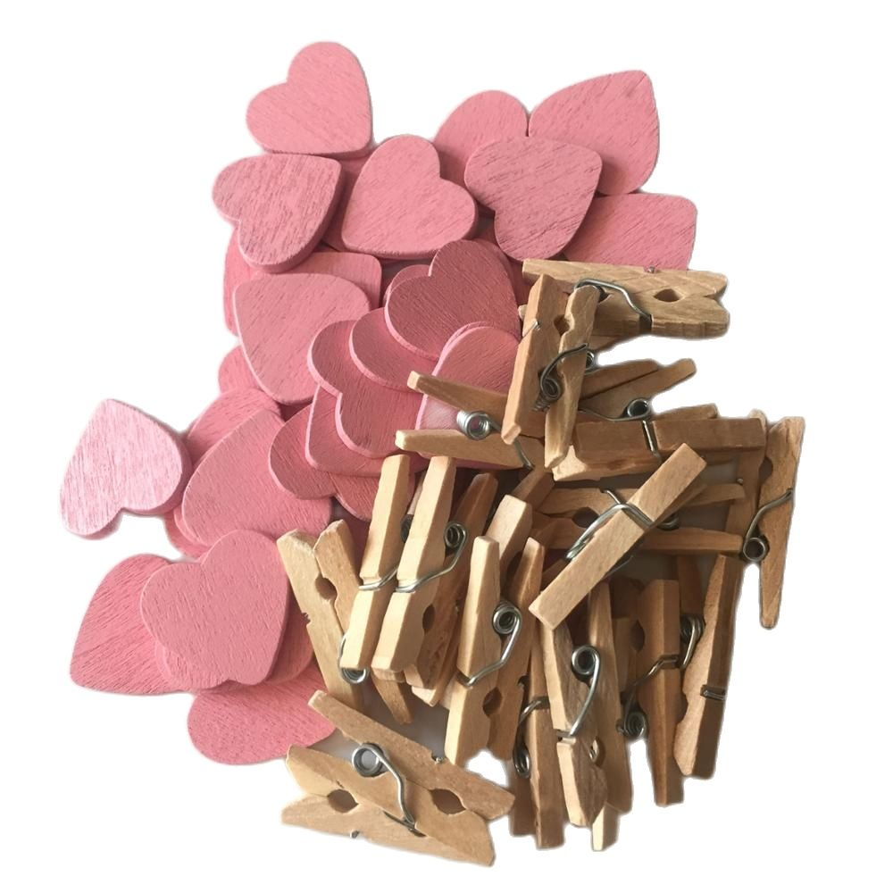 50ct Photo Banner Clips Watermelon Mini Wooden Clothespins Sailor Baby Shower Forest gungle Pizza Party Decorations