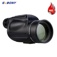 SVBONY 10-30X50 zoom monocular telescope waterproof Porro prism multi-coated lens low night vision for hiking camping travel