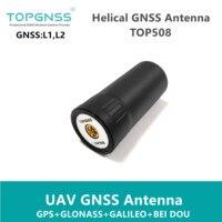 NEW 3 12 UAV RTK handheld Receiver helical spiral GNSS antenna RTK GPS antenna GLONASS GALILEO BEIDOU ZED F9P SMA J TOP508