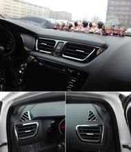 5pcs/set Car styling ,Car Air Vent cover trim Decoration frame Fit For KIA RIO 3 K2 2011-2014 2015 2016car accessories цена 2017