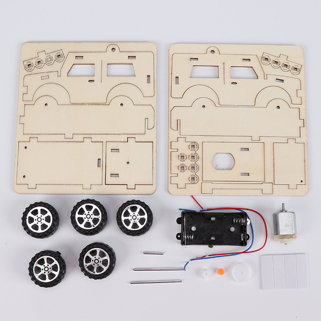 Mobil Kayu Listrik Rakit  6