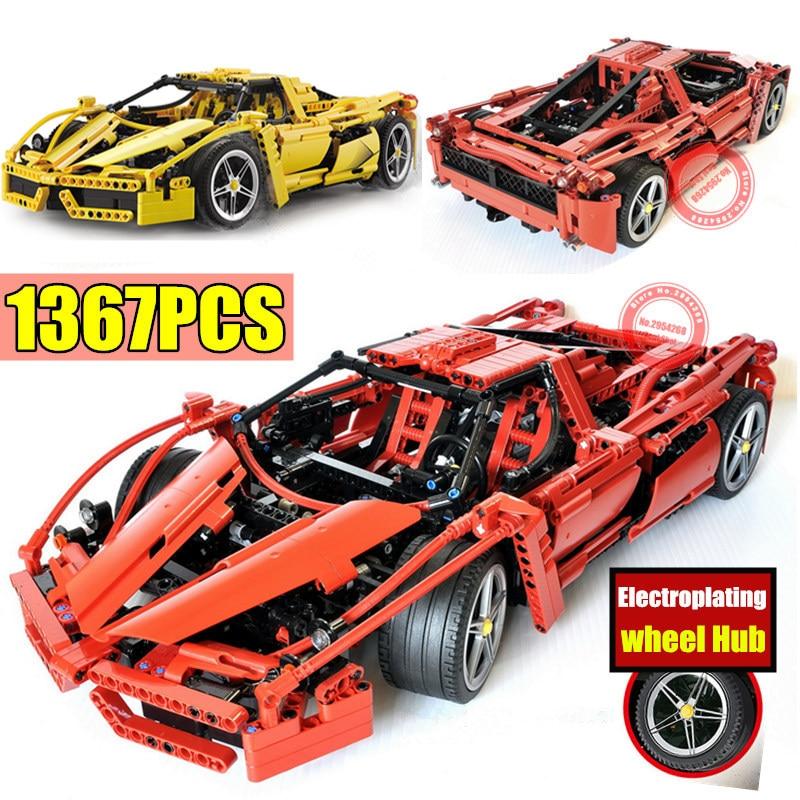 New 1359pcs 1 10 Classical Racing Enzo Car fit technic city 8653 Model Building Blocks Bricks