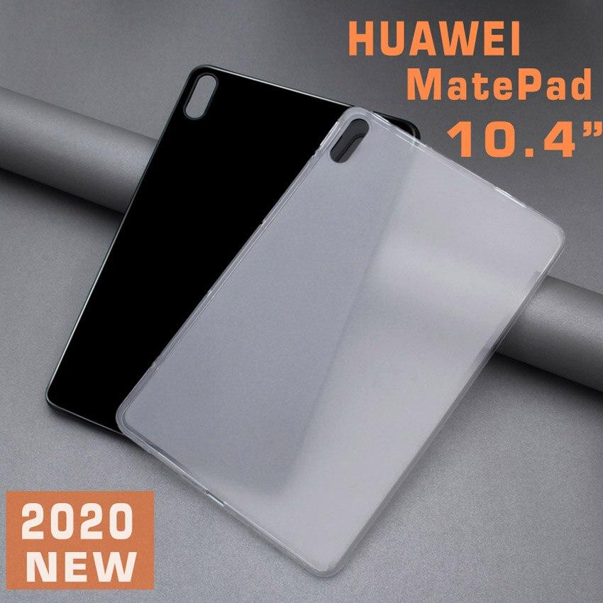 Caso da tabuleta para 2020 huawei matepad 10.4 polegada tpu capa traseira macia para matepad 10.4 2020 BAH3-AL00 BAH3-W09 magro caso fosco preto
