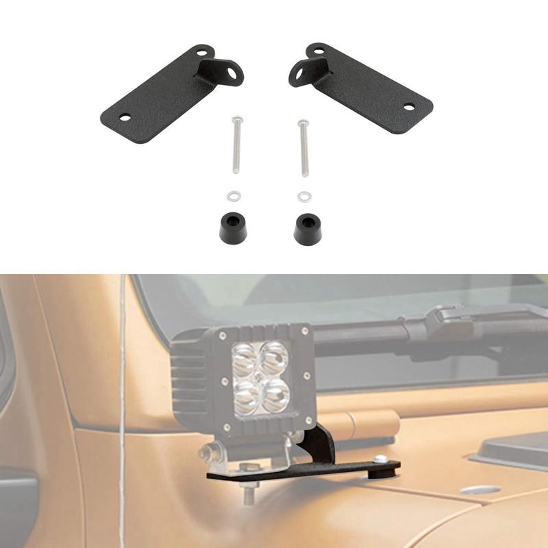 Light Bar Brackets Windshield Hinge Light Mounting Brackets For Jeep Wrangler JL 2018-2020 Pair