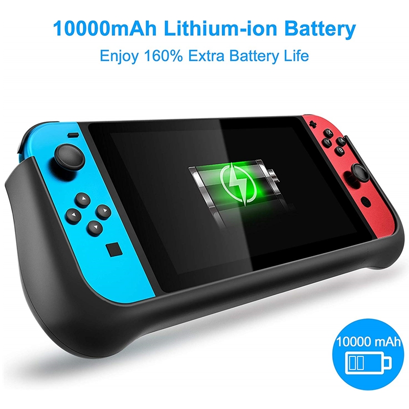 External 10000mAh Battery Case for Nintend Switch Backup Charger Case Support PD Quick Charging with 2 Extra Game Card Slots 1