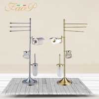 FAOP bathroom Toilet Brush Holders Gold Antique brass Roll Paper Hanger Paper Holders Bath towel back Bath Hardware Sets