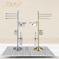FAOP bathroom Toilet Brush Holders Gold Antique brass Roll Paper Hanger Paper Holders Bath towel back Bath Hardware Sets