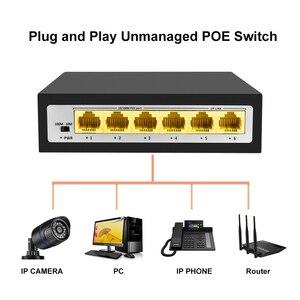 Image 4 - CCTV PoE Net Anahtarı 4 Portlu 10/100M Hub Ethernet Üzerinden Güç PoE & Optik Şanzıman 15W IP Kamera Sistemi Ağ Switcher