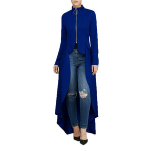 Image 4 - Muslim Blouse Women Fancy Zipper Abaya Dress with irregular swallow tails muslim shirt Hijab dress