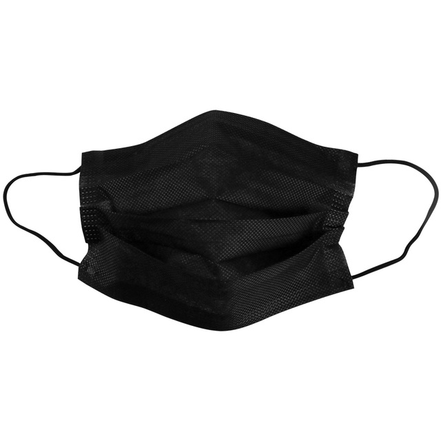 10/20/50/100Pcs Mouth Mask Disposable Black Cotton Mouth Face Mask Earloop Activated 5