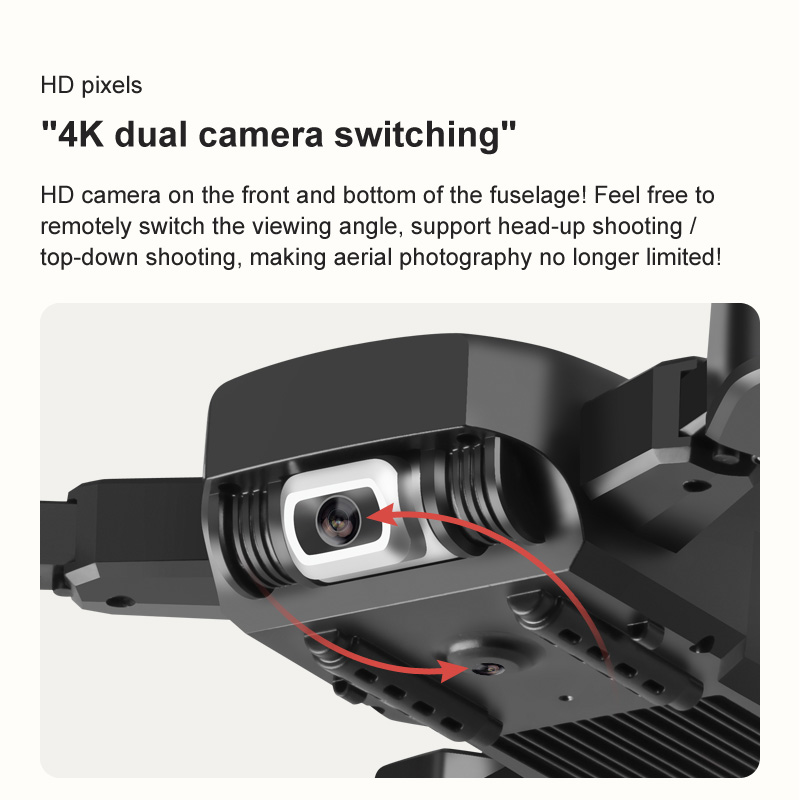 2020 New drone KK6 RC Drone 4K HD Dual Camera 50X Times Zoom WIFI FPV Foldable Quadcopter One-click Return Kids Toys