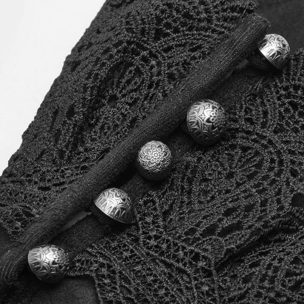 PUNK RAVE guantes de nobleza lujosos para hombre Victoria elegantes de gamuza Floral de encaje de invierno largo Formal de fiesta de noche de cena guantes - 5