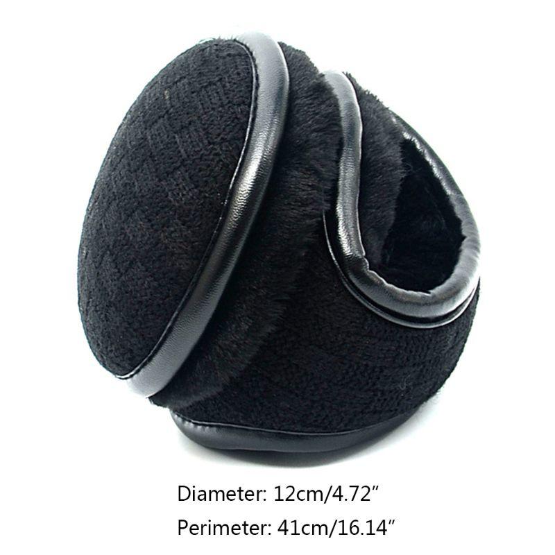 2019 New Unisex Winter Polar Fleece Earmuff Plaid Crochet Warm Lining Foldable Ear Warmer