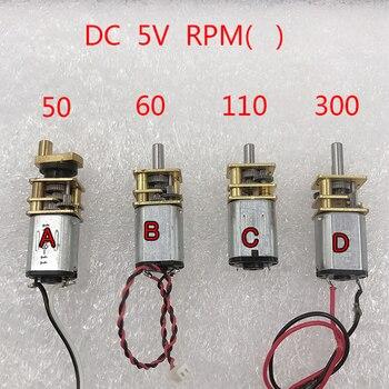 цена на Various N20 Gear Motors DC 3V-6V 5V 50RPM 60RPM 110RPM 300RPM  Gear Motor Full Metal Gearbox Gear Reducer Electric Motor