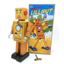 Nostalgic Clockwork Toy Mini Lilliput Robot Photography Baby Gift Classic Wind Up Robots Early Educational Toys For Kids Gift