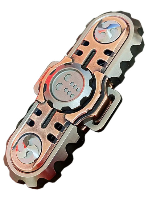 BM Chainsaw Mad Devil Fingertip Gyro Two page Spiral Decompression Toy Collection Pocket Multi Tools