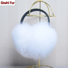 Luxury Women Real Natural Fox Fur Earmuff Women