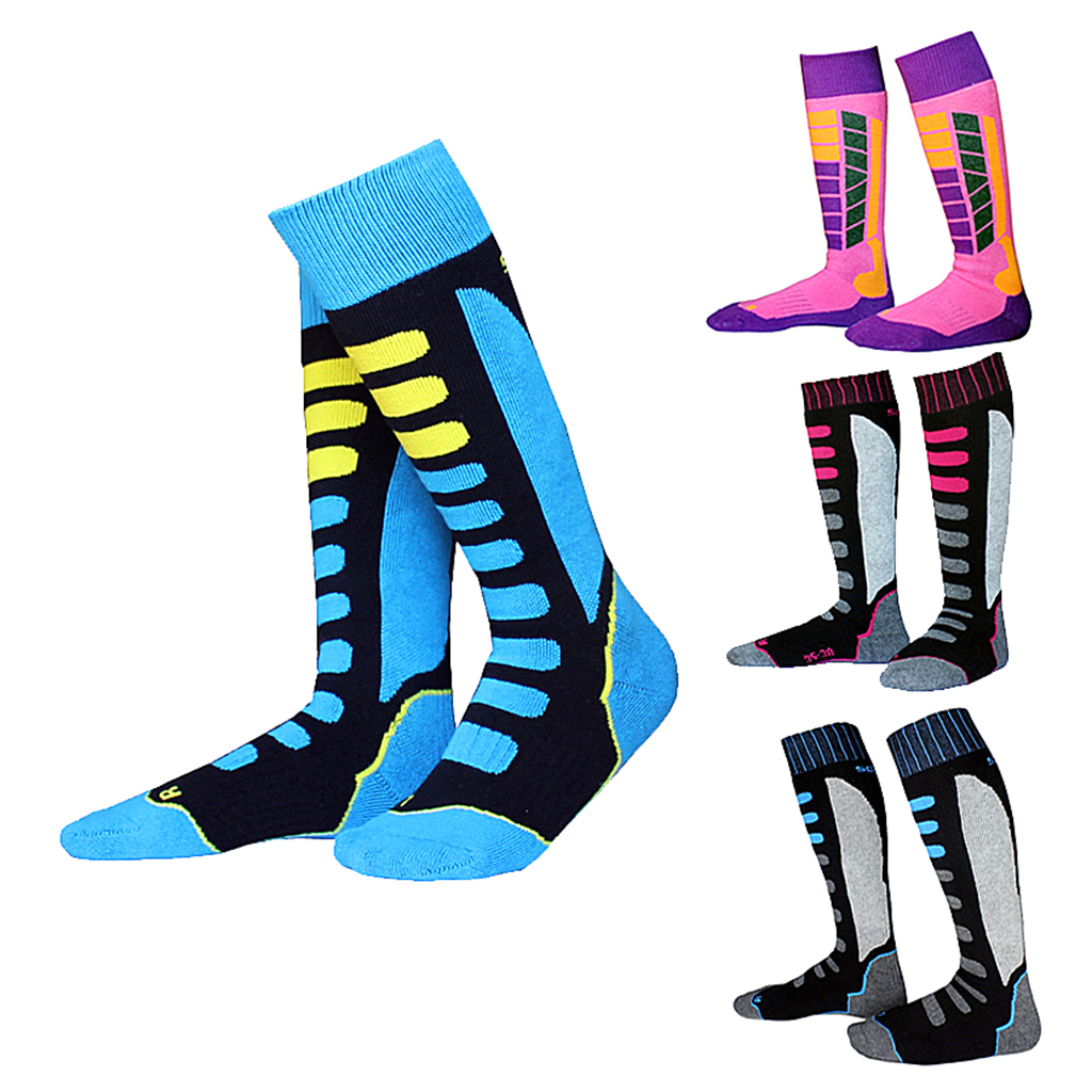 2 Pairs Kids Child Thermal Socks Boot Ski Walking Cycling Warm Socks EU 27-30