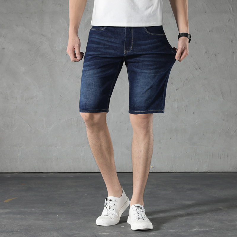 Five Bag Models Large Size Cowboy 5 Pants Men's Summer Straight-Cut Plus-sized Fashion Loose Cowboy Short Shorts