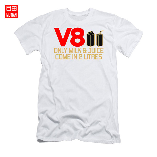 V8 Only Milk /& Juice Come In 2 Litres Super Premium T-shirt Tee Tshirt 2L And
