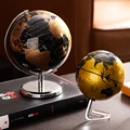Retro Rotating Globe Home Decoration Accessories Globe Children Study Table Decoration World Map Geography Children Education