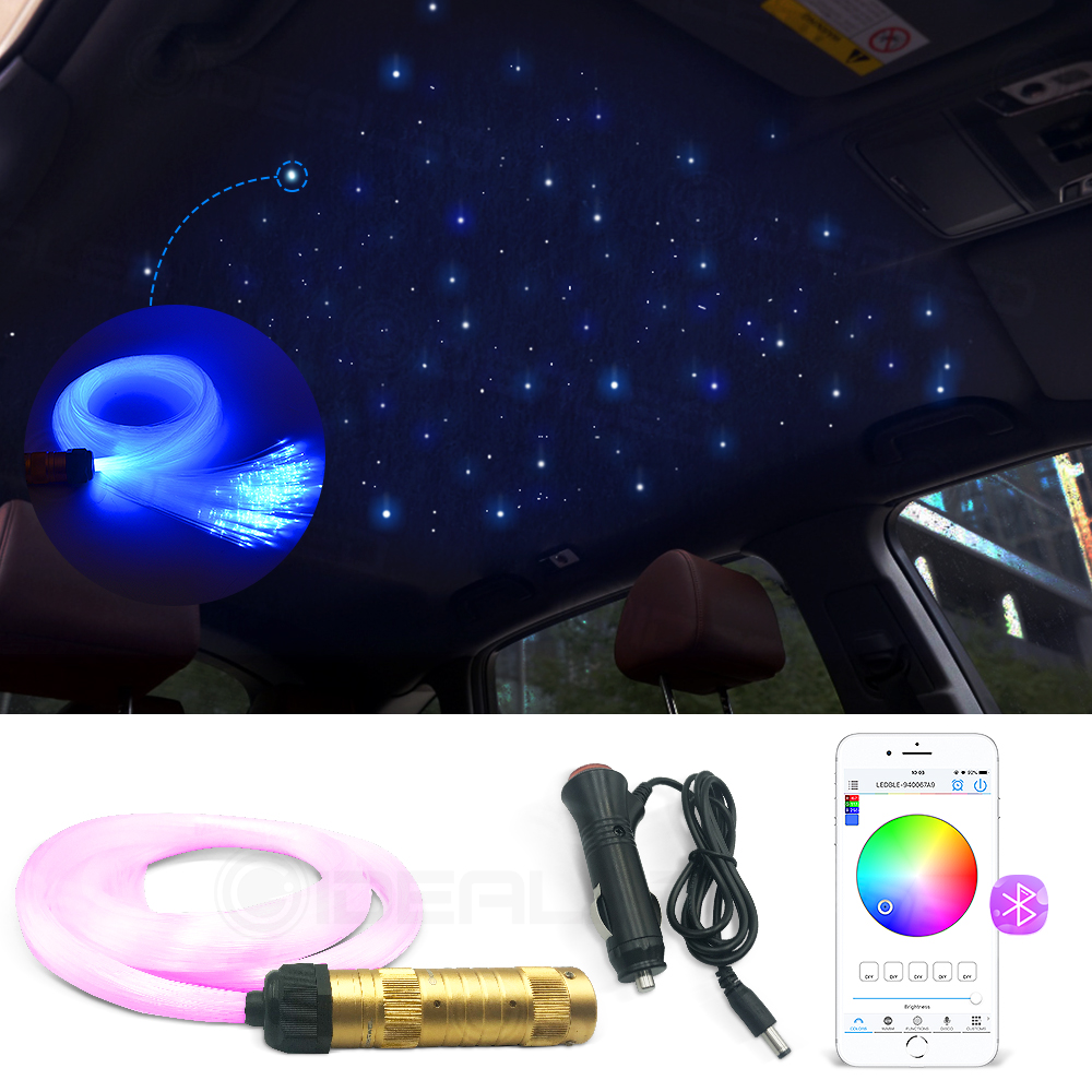 Optic Fiber Lights 0.75mm Smart APP Control RGBW Starry Sky Ceiling Night Light Optical Fiber Cable Available Car Decoration